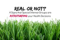 """A new interesting concept I wasn't aware of, """"astroturfing"""" - fake attempts by organizations to build relationships. And as this website points out, ways to identify message manipulation that is common in astroturfing. Baby Health, Gut Health, Health And Nutrition, Health And Wellness, Eat To Live Diet, Alternative Therapies, Cancer Treatment, Medical Care, Health Articles"""