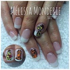 Nail art. Montreal City. Nail Artist. Mélissa Monderie. Catfish Illustration. I'm such a fan of Garfield! :)