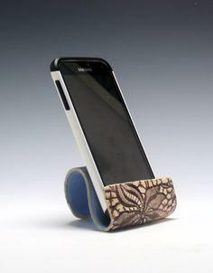 Ceramic cell phone holder, business card holder, sponge holder, recipe card holder/Ceramics and Pottery by PCanPotter on Etsy https://www.etsy.com/listing/485786517/ceramic-cell-phone-holder-business-card