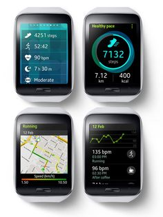 """Samsung Gear S"" - Personal fitness monitor - Your own health coach - A perfect health and fitness companion featuring more enhanced mufti-sensors, built in GPS and robust S Health features. It will support and coach you while exercising and help keep you motivated..."