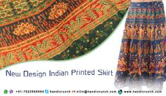 online Indian #jaipur printed like a #Girls cotton Skirts are Available on Handicrunch