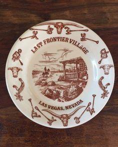 Vintage-Wallace-China-El-Rancho-Last-Frontier-Village-Las-Vegas-Nevada-Plate