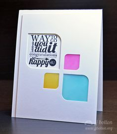 JJ Bolton {Handmade Cards}: Avery Elle April Blog Hop: this is lovely, using distress inks to color vellum