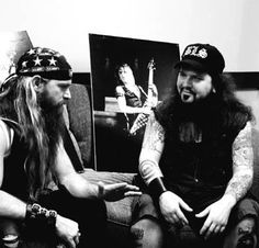 Zakk Wylde & Dimebag Darrell..Two of the best guitar players in the world!!! RIP Dime..we miss you