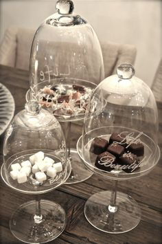 Riviera Maison....it's little touches like these glass domes that make your family and guest feel really catered to.