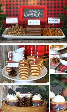 Then a party inspired by the lumberjack lifestyle might be perfect for you. Celebrate in style with the help of our Lumberjack Plaid party guide. Lumberjack Birthday Party, Boys First Birthday Party Ideas, Baby Boy 1st Birthday, Boy Birthday Parties, Lumberjack Cupcakes, Camping Wedding Theme, Camping Theme, Camping Crafts, Camping Hacks