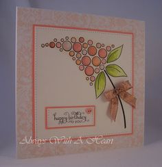 Hi Everyone Happy Tuesday! Hope you have sunshine today. A quick make and a quick post from me today as I have a few deadlines loomi. Craftwork Cards, Mama Elephant, Candy Cards, Happy Tuesday, Cardmaking, Birthday Cards, Dangles, Bubbles, Birthdays