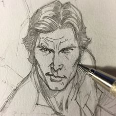 ✏️ Working late tonight on this scruffy-lookin' nerf herder. #scruffylookingnerfherder #rebel #smuggler #hansolo #starwars #marvel #harrisonford #drawing #penciling #sketching #draw #sketch #pencil #art #jscottcampbell #comics #comicbook #comicbooks #70sjohnfogertysideburns #1977 @starwars