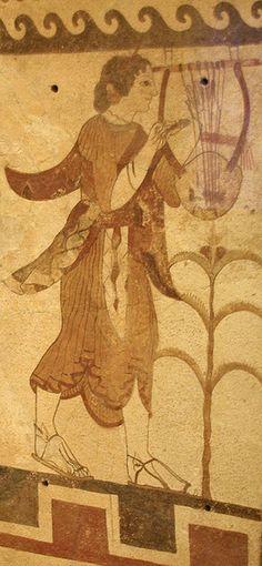 Lira, pintura Etrusca  Etruscan terracotta plaque, about 470 B.C., Museum of Fine Arts, Boston.