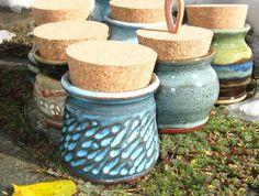Handcarved Stash Jar Spices Treats Tea Holder