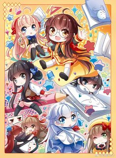 chibi manhua love it really kawai kyaaa~~~>.<