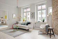 scandinavian interior, bright home, design