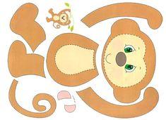 Аппликация из цветной бумаги для детей от 4 лет. Обезьяна