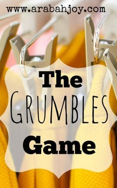 Here's a simple, fun game to help your family stop grumbling and complaining. It really works!