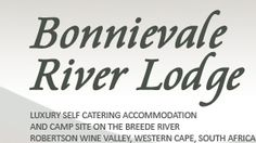 Bonnievale River Lodge - Self-Catering Guesthouse and riverside camping on the Breede River River Lodge, Just Relax, Campsite, Road Trips, Glamping, Catering, Self, Places, Travel