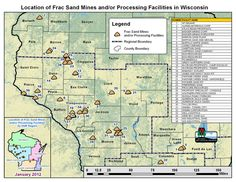 dramatic increase in the number of mining proposals. due to a surge in hydrofracking, a technique used by the petroleum industry to extract natural gas and/or crude oil from rock formations, which requires a certain quality of sand in the process. Wisconsin has high-quality sand resources and therefore is seeing a substantial rise in mining permit requests to mine for frac sand. The extracted sand is then shipped out of state to be used at gas and oil fields for hydrofracking.