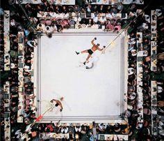 muhammad ali knocks out cleveland williams. astrodome - houston, texas. november 14, 1966. © neil leifer.