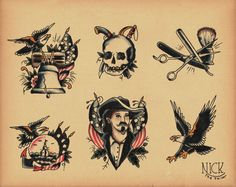 Old School Tattoo Flash 162 By Calico1225 D30ijgljpg