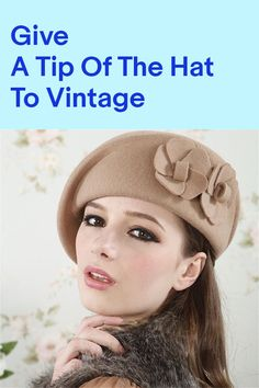 Keep warm with this vintage-style winter beret that's both cozy and utterly charming. Find yours on eBay.