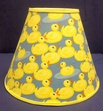yellow ducky printed fabric | Rubber Ducky Lampshade Duck Lamp Shade Ducks