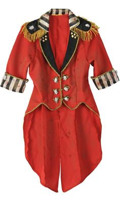 Freak Show Vintage Cropped Red Ringmaster Jacket - Party City