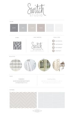 Switch Studio :: Fabric Sew Upholster - Saffron Avenue : Saffron Avenue. Personal Branding design inspiration.