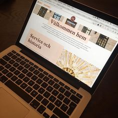 Ny hemsida. Work in progress! Vi ser fram emot vår fantastiska ny hemsida inom kort online #hotelkungsträdgården #ohmy