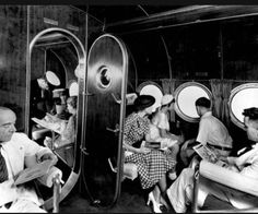 Interior view from a Sikorsky S-40 flying boat.