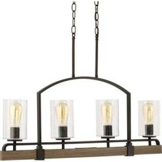 Home Decorators Collection Lighting. Home Decorators Collection Newbury Manor Vintage Bronze Linear  Chandelier with Clear Glass Shade Seeded 6 Light