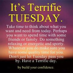 Tuesday Morning Prayer Lord, thank you for the gift of