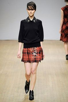 London fashion week: Clements Ribeiro, LFW 2013. Tartan