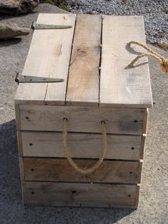 Large Pallet Box Reclaimed Hardwood by AlteredNature on Etsy