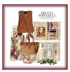 """""""A Fresh Floral Look"""" by onesweetthing on Polyvore featuring Weissfee, Valentino, MICHAEL Michael Kors, Charlotte Tilbury and Nearly Natural"""