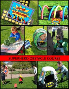 SUPERHERO Party- Superhero GAMES for kids- Superhero Birthday Party - Comic Party- Superhero Obstacle Course