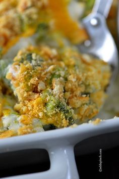 Broccoli Cheese Casserole Recipe from addapinch.com