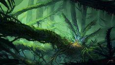 Alien Jungle by JJcanvas.deviantart.com on @deviantART