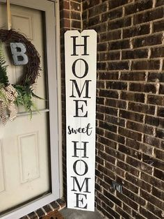 6FT White Home Sweet Home Porch Sign