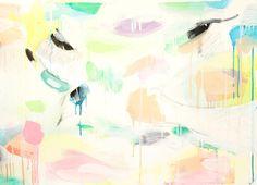 Pájaro / Bird (2 x 1,5 mt) - Oil Panting + Pencil. Artist Clara Simond