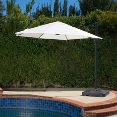 Best Selling Home Dunes 9.4 ft. Aluminum Offset Umbrella - 296123