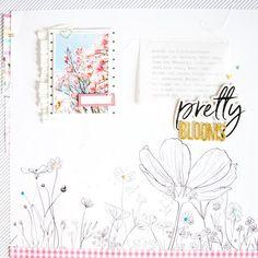 Pretty Blooms Layout Inspiration | Kathleen Graumüller