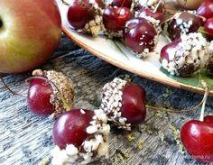 Черешня в шоколаде с орехами. Ингредиенты: черешня, шоколад, кедровые орехи