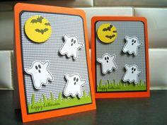 Halloween Card Ghost Halloween Card by apaperaffaire on Etsy