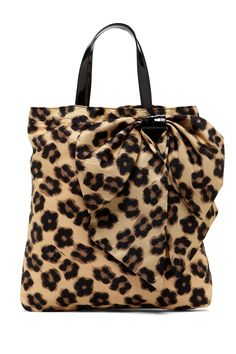Printed Bow Applique Tote