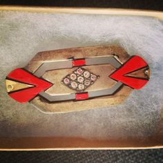 I just am in love with my latest Vintage art deco brooch from Paris