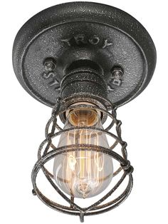 Conduit Flush-Mount Ceiling Light | House of Antique Hardware