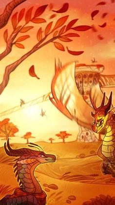 Summers end by desertnettle on DeviantArt Wings Of Fire Dragons, Got Dragons, Mythical Creatures Art, Fantasy Creatures, Prehistoric Creatures, Dragon Sketch, Fire Book, Dragon Artwork, Fire Art
