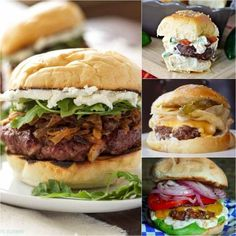 Try the best burger recipes! 35 of the best juicy burger recipes that you will love. Find the best grilled burger recipe from beef, poultry and meatless! There is a burger for everyone! Best Grilled Burgers, Grilled Burger Recipes, Best Juicy Burger Recipe, Cheese Recipes, Beef Recipes, Crazy Mom, Good Burger, Grilled Chicken, The Best