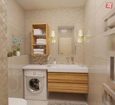 Bathroom - washing machine and washbasin