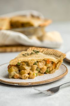 Vegan Chickpea Pot Pie (Gluten & Grain Free!) - From My Bowl. As fall approaches we have you covered on all the warm dinner recipes!