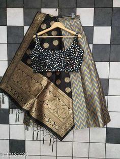 Lehengas Classy Stylish Banarasi Jacquard Silk Women's Lehenga Vol 14 Topwear Fabric: Silk Bottomwear Fabric: Banarasi Jacquard Silk Dupatta Fabric: Banarasi  Silk Set type: Choli And Dupatta Top Print or Pattern Type: Banarasi Silk Bottom Print or Pattern Type: Weaving Work Dupatta Print or Pattern Type: Zari Work Sizes:  Semi Stitched (Blouse Size: Up To 40 In  Lehenga Waist Size: Up To 44 in Lehenga Length Size : Up To 40 In Dupatta Size:  2.25 Mtr) Country of Origin: India Sizes Available: Free Size, Semi Stitched   Catalog Rating: ★4.3 (487)  Catalog Name: Classy Stylish Banarasi Jacquard Silk Women's Lehenga Vol 14 CatalogID_1823060 C74-SC1005 Code: 3711-10131430-5223
